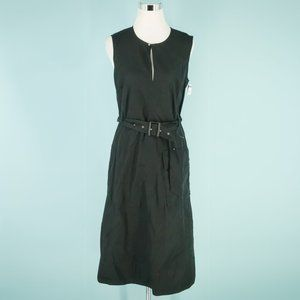 Polo Ralph Lauren 8 Black Utility Midi Dress NWOT